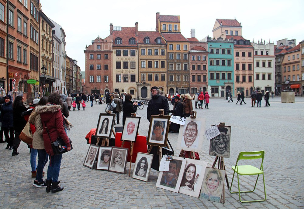 Typisch Pools plein in Warschau