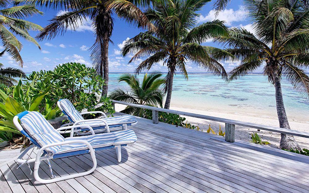 Terras bij een hotel op de Cookeilanden