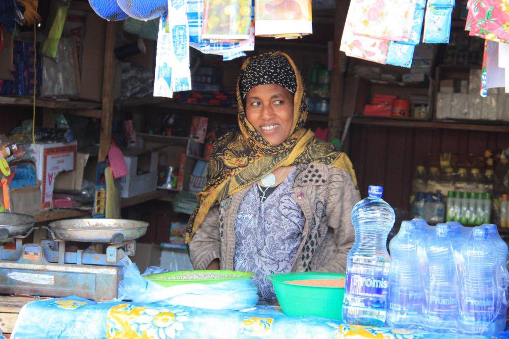 Marktkraam in Addis Abeba, Ethiopië