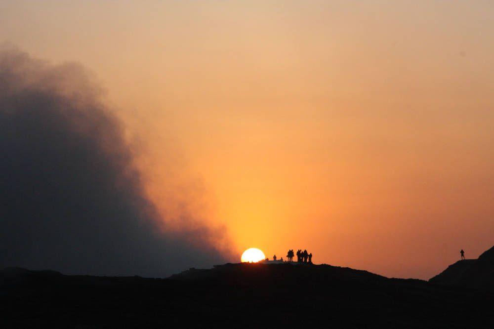 Zonsopkomst bij Danakil, Ethiopië