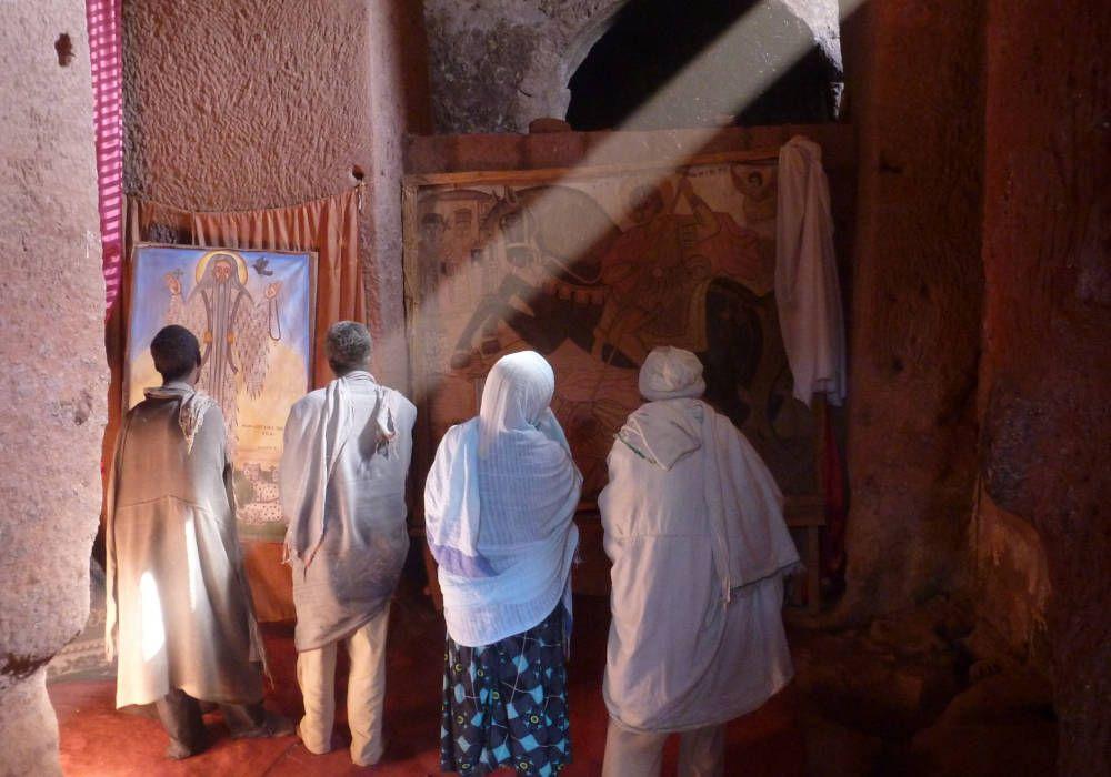Lichtinval in kerk in Noord-Ethiopië