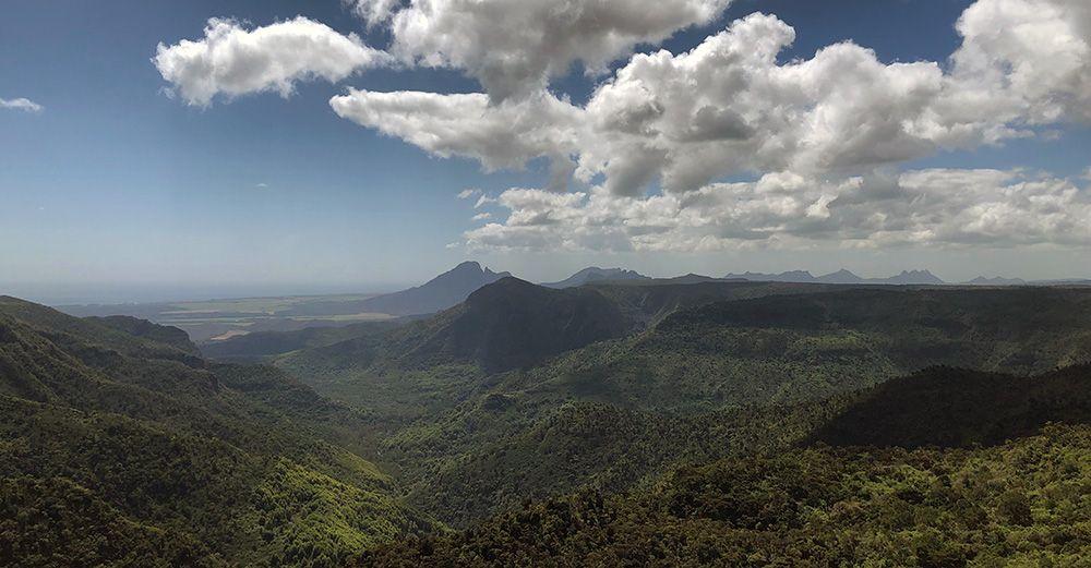 Uitzicht over Black River Gorges op Mauritius