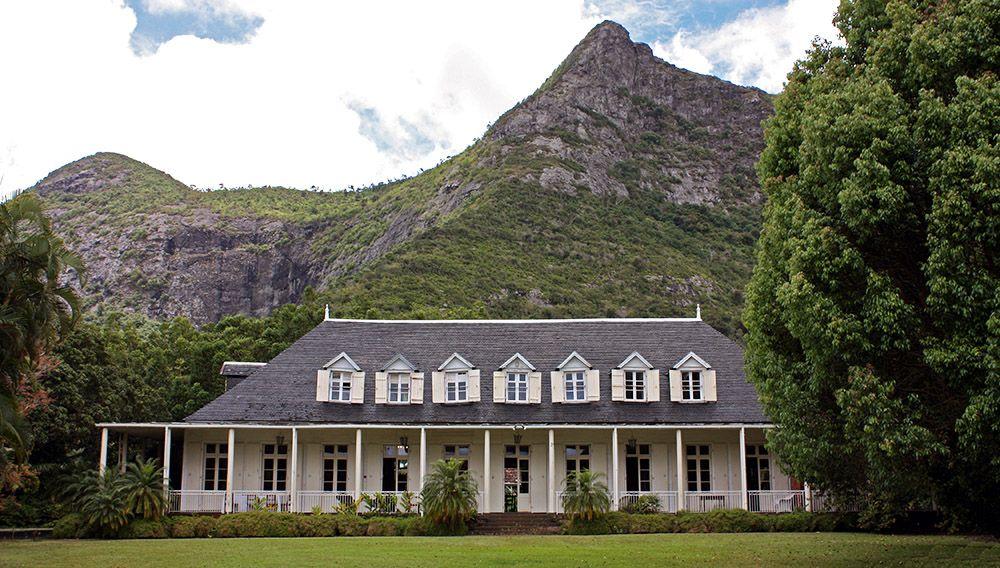 Oud koloniaal huis op Mauritius