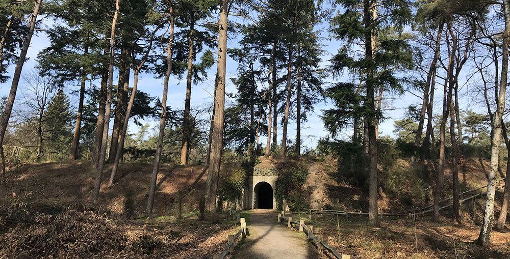 Tunnel naar de vijver van Heidestein