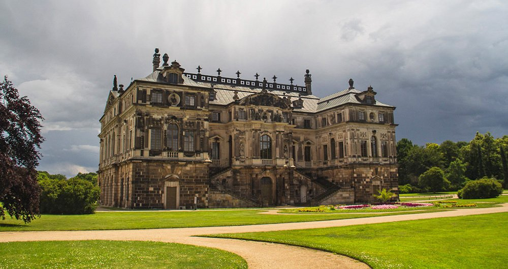 Groot park in Dresden