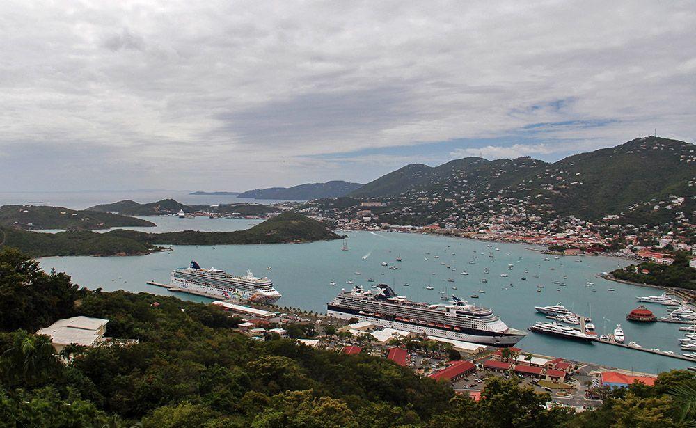 Cruiseschepen op de Amerikaanse Maagdeneilanden