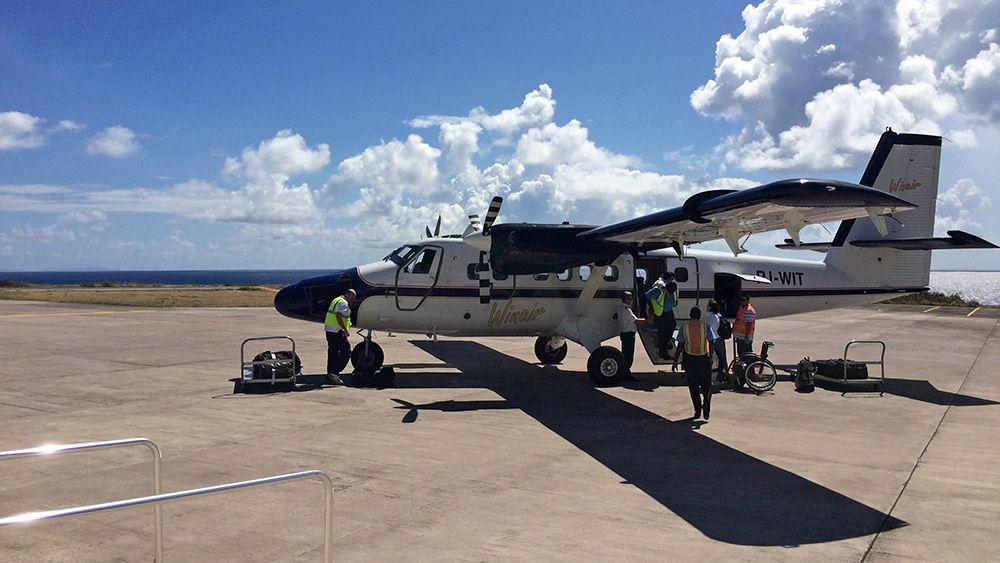 Met de turboprop vanuit Sint Maarten naar Saba
