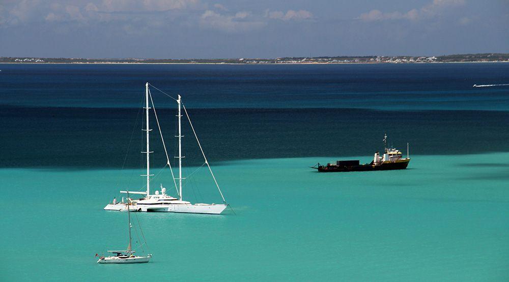 baai bij Sint Maarten