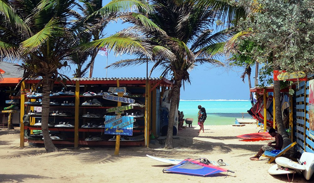 surfstrand op Bonaire