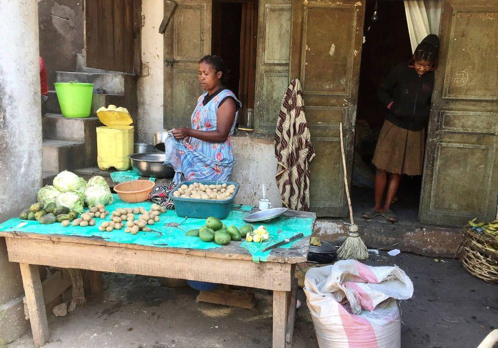 Eetstalletje in Madagaskar