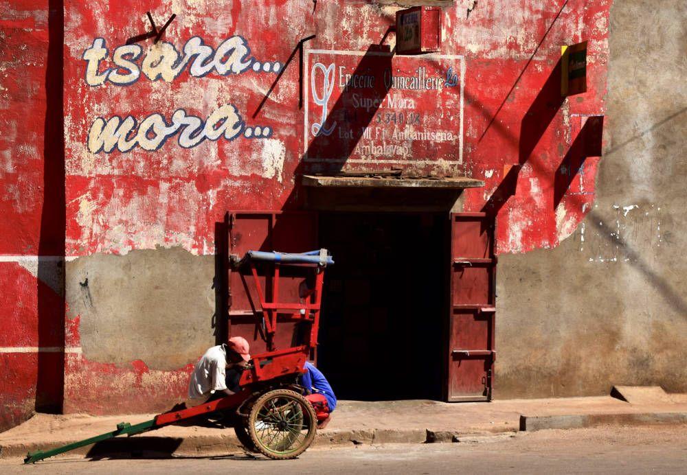 Straatbeeld van Madagaskar