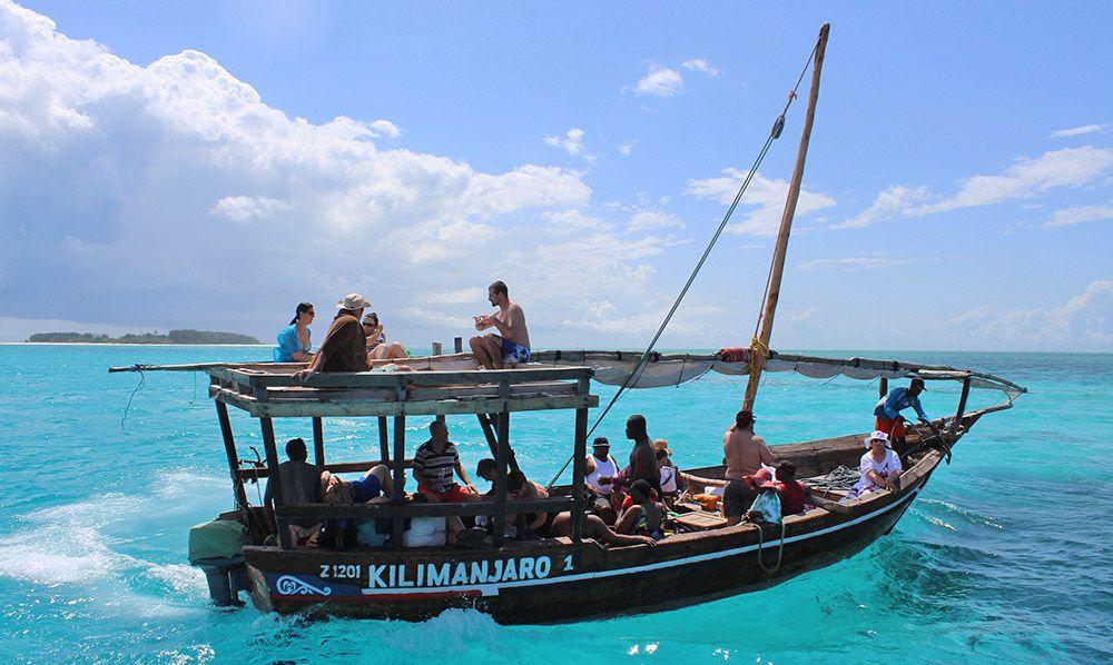 Op zee bij Zanzibar