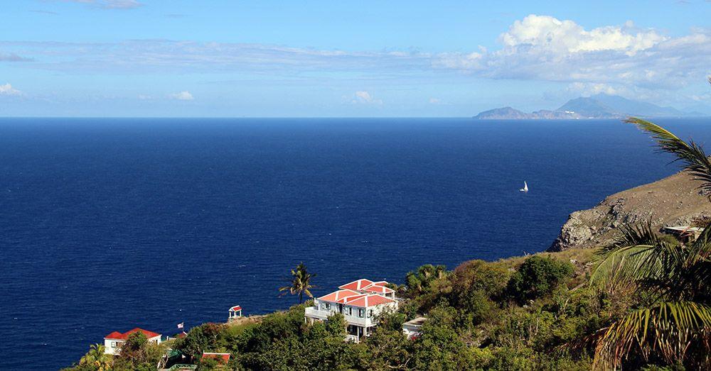 Uitzicht op Saba