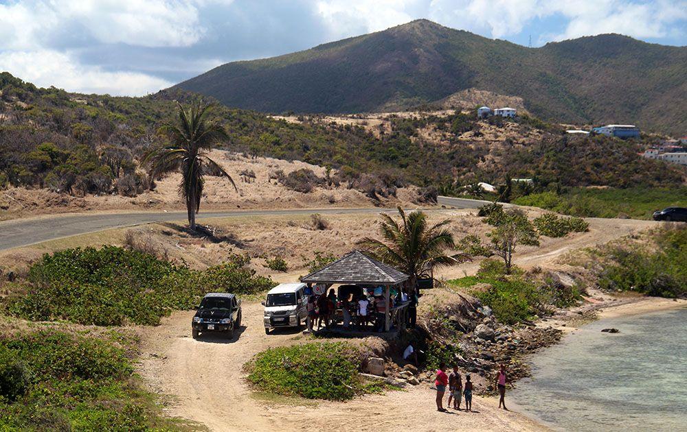 het binnenland van Sint Maarten