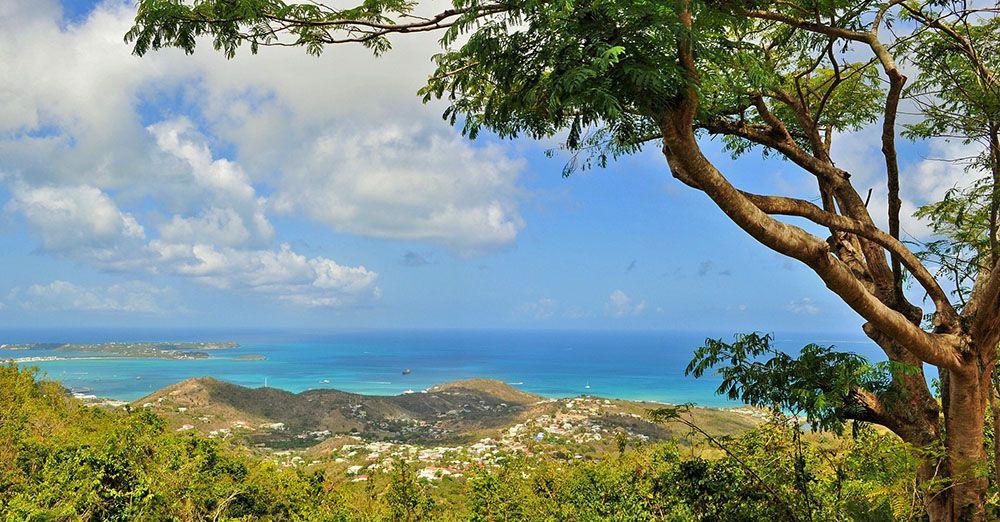 Uitzicht op Sint Maarten