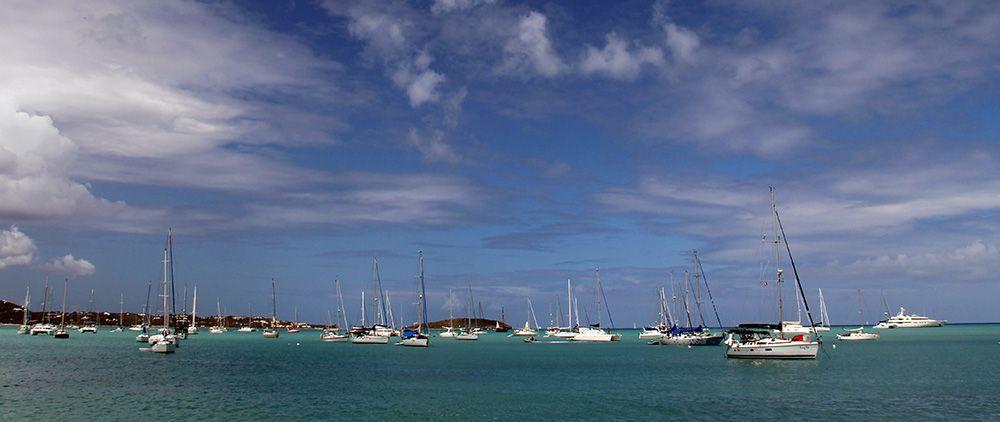 zeiljachten bij Sint Maarten