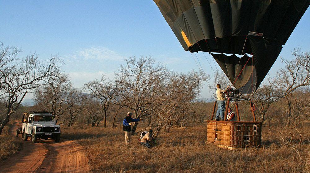 ballonvlucht bij Hoedspruit, Zuid-Afrika