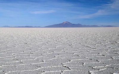 Het zoutmeer van Uyuni