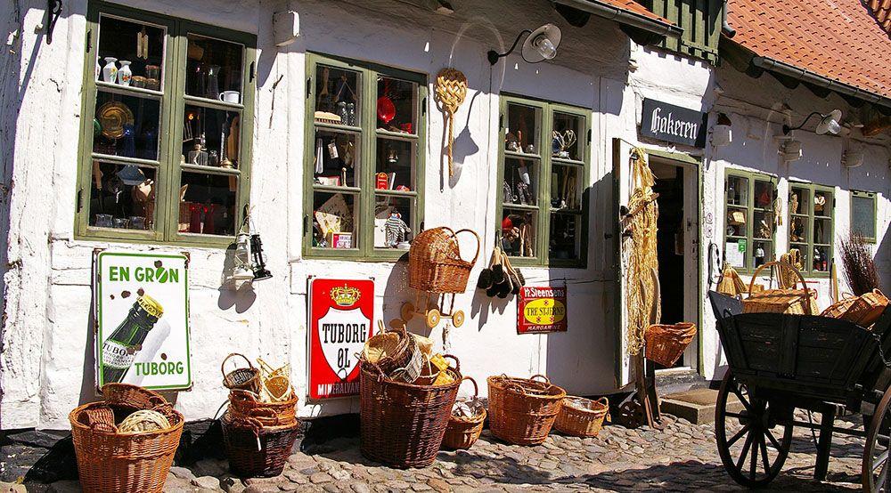 antiekwinkel in Denemarken