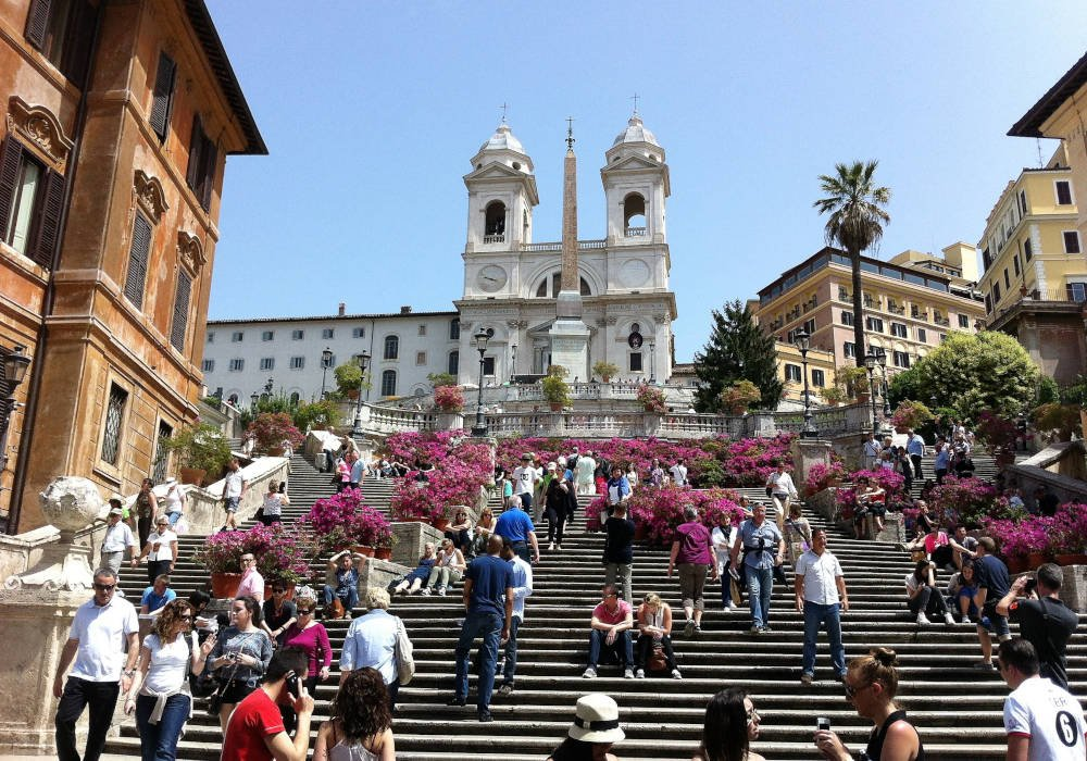 Spaanse trappen in Rome
