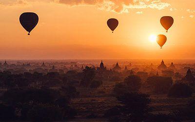 Ballonvlucht boven Bagan