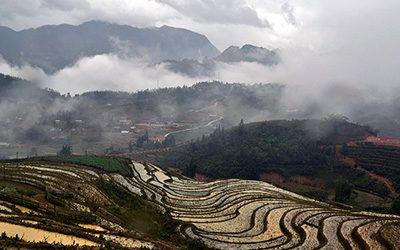 Trekking door de rijstvelden van Sapa