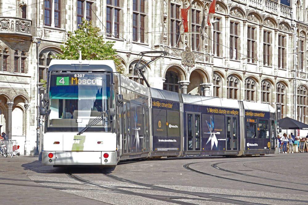 Tram in Gent, België