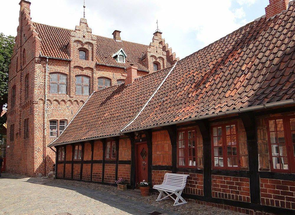 stedentrip naar Ribe - oude huizen