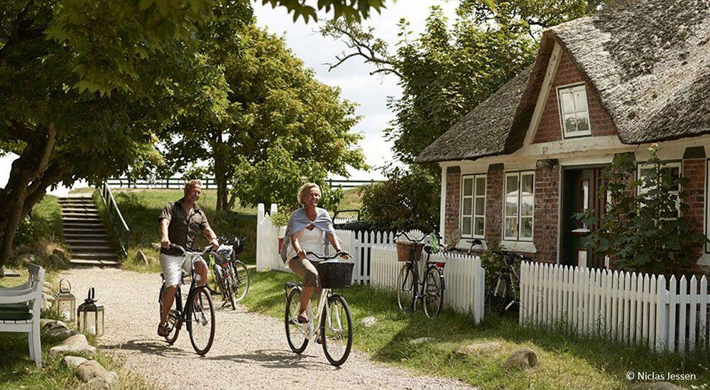 fietsen op waddeneiland Fanö in Denemarken