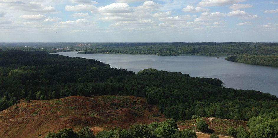 uitzicht vanaf de Himmelbjerget