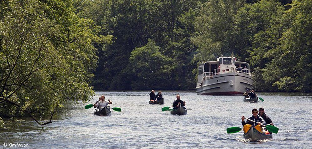 kano's op een rivier bij Silkeborg