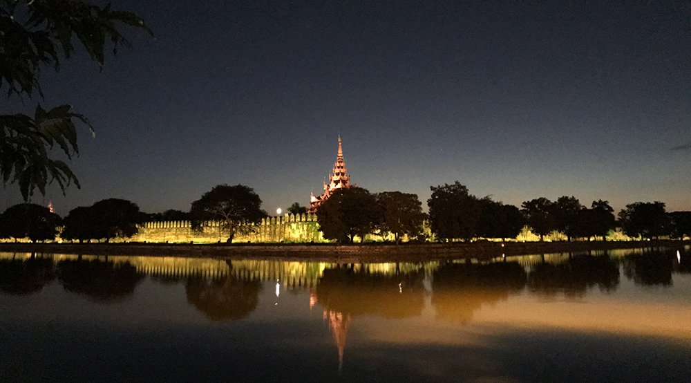 koninklijk paleis in Mandalay