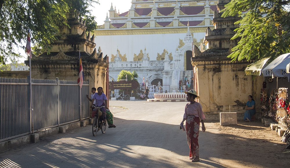 straatbeeld in Mandalay