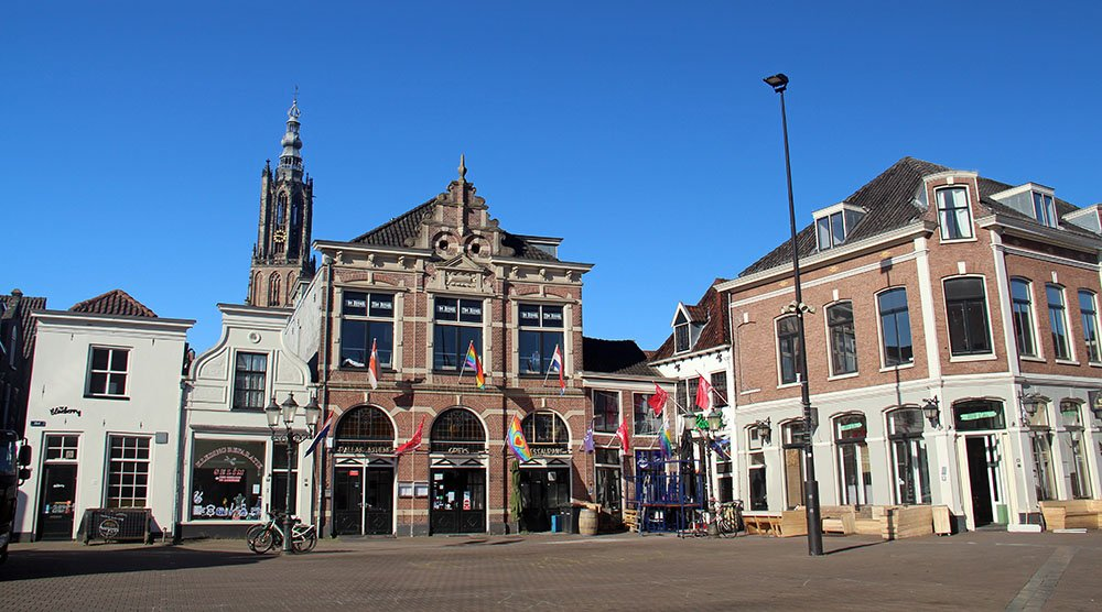 verlaten plein in Amersfoort