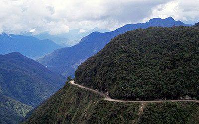 De Death Road per mountainbike