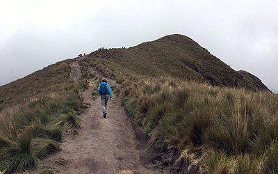 Wandelen bij de Pichincha-vulkaan