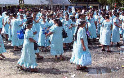 Kerstviering op Kosrae