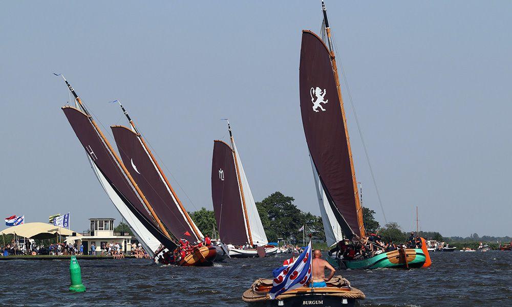 Zeilwedstrijd in Friesland