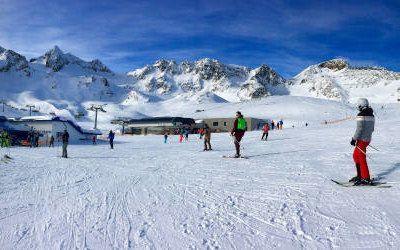 Wintersport in het Stubaital