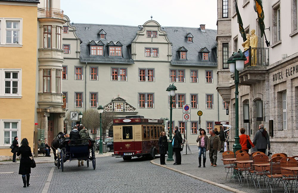 historisch centrum van Weimar