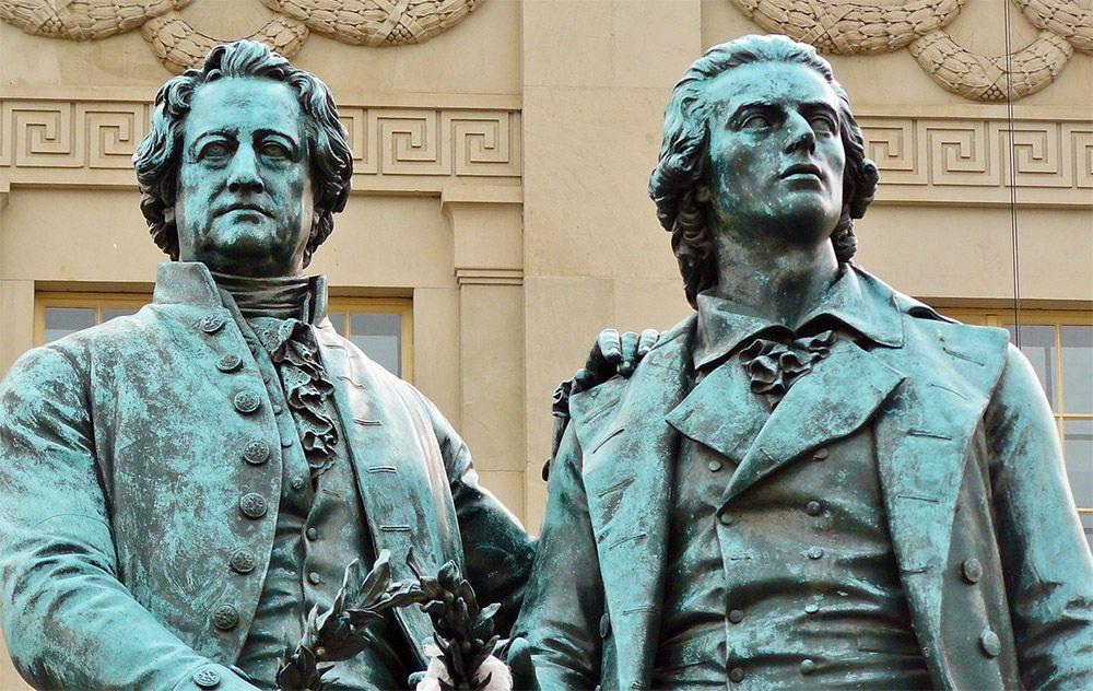 Goethe en Schiller, Weimar