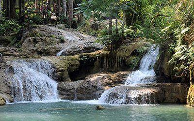 De heerlijke watervallen bij Luang Prabang