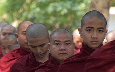 De Mahagandayon Monastery bij Mandalay