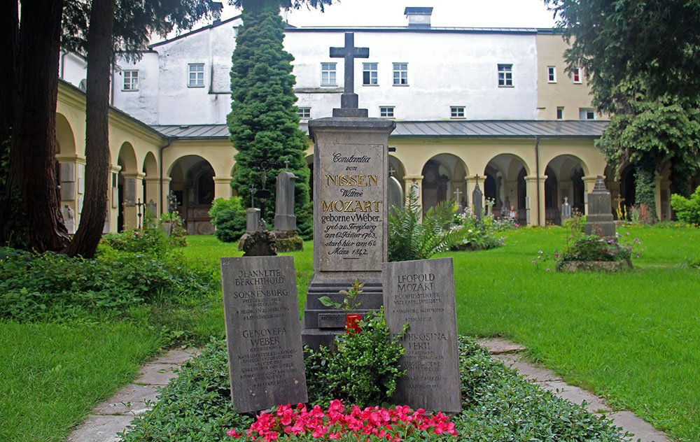 graf van de Mozart-familie in Salzburg