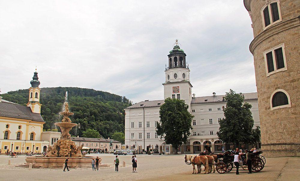 Plein in Salzburg, Oostenrijk