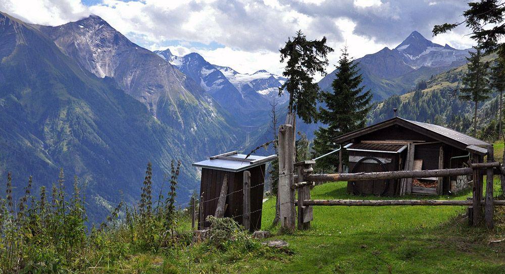 Berghut in Salzburgerland, Oostenrijk