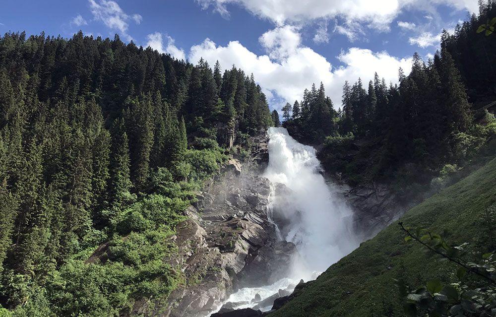 Watervallen bij Krimml in Salzburgerland, Oostenrijk