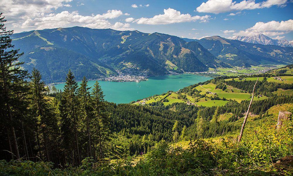 Uitzicht op de Zeller See, Salzburgerland, Oostenrijk