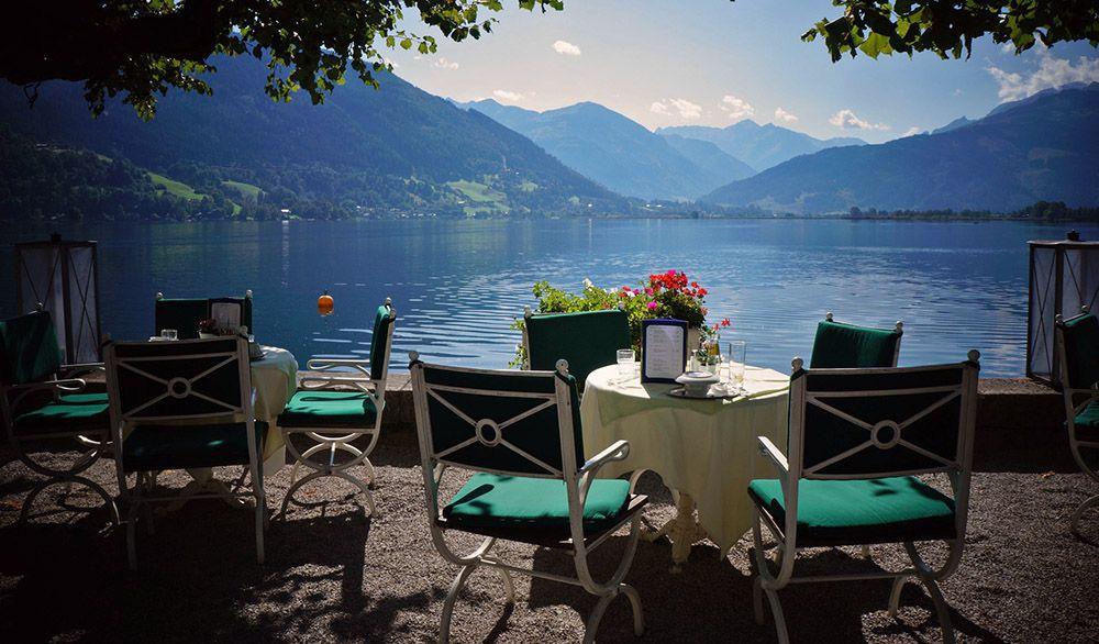 Zeller See bij Zell am See, Oostenrijk