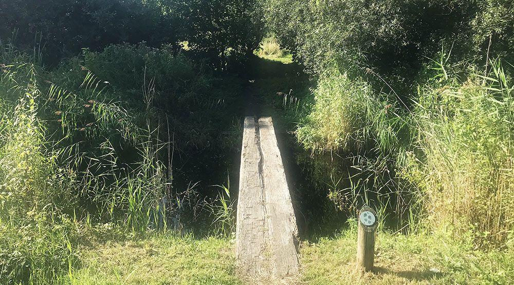 Loopbrug bij Sloterdijk
